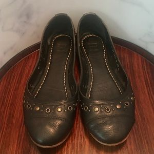Frye Carson Flats with Eyelet & Rivet Trim